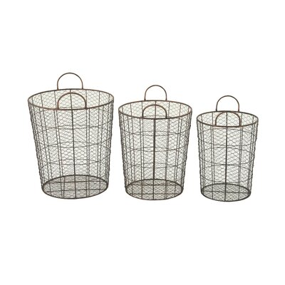 3 Piece Durable Baskets Set by Woodland Imports
