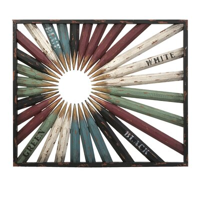 School Days Pencil Framed Graphic Art by Woodland Imports