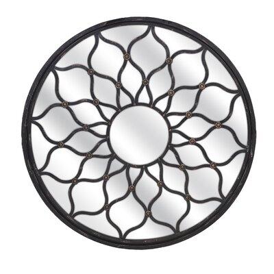 Maske Round Shaped Mirror by Woodland Imports