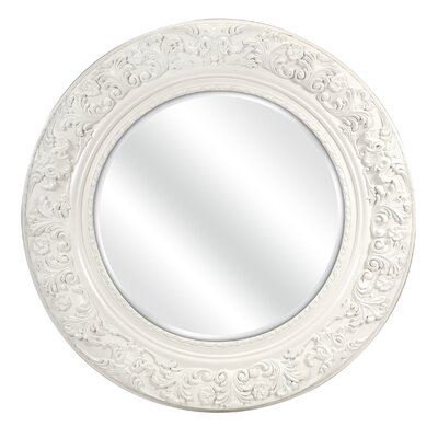 Merril Carved Round Mirror by Woodland Imports