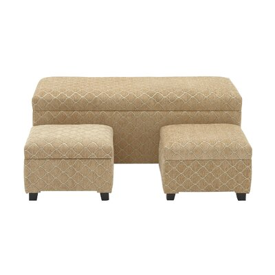 3 Piece Upholstered Storage Bedroom Bench Set by Woodland Imports