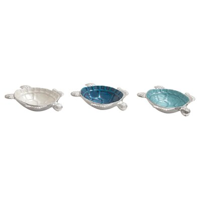 3 Piece Turtle Bowl Set by Woodland Imports