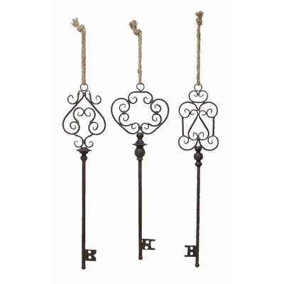Woodland Imports 3 Piece Key Wall Décor Set