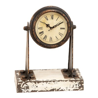Woodland Imports Metal and Wood Clock