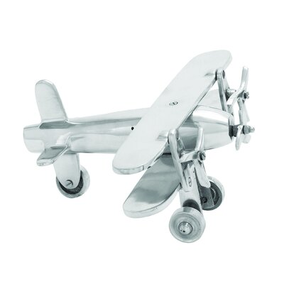 Aluminum Plane Sculpture by Woodland Imports