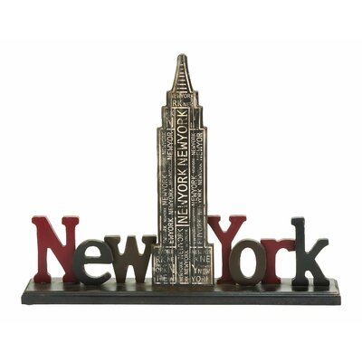 Woodland Imports Décor New York Tourist Empire State Building Table Letter Block