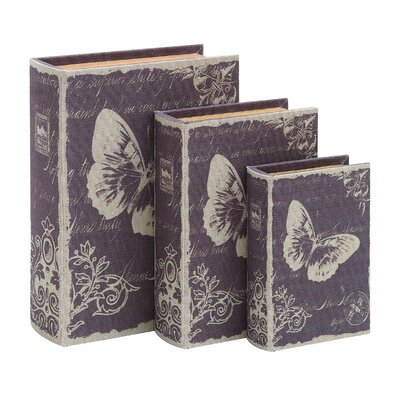Woodland Imports Paris Butterfly Theme Book Box