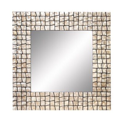 Capiz Wall Mirror by Woodland Imports