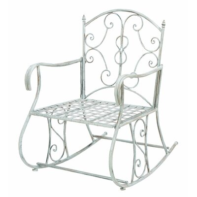 Woodland imports outdoor rocking arm chair reviews wayfair - Rocking chair jardin ...