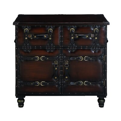 Woodland Imports Decorative 2 Drawer Utility Chest