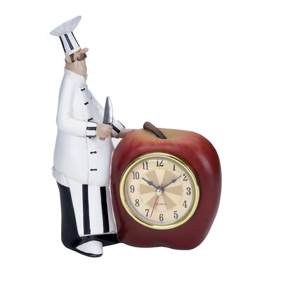 Polystone Chef Table Clock by Woodland Imports