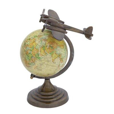 Round Base Aluminium Globe by Woodland Imports