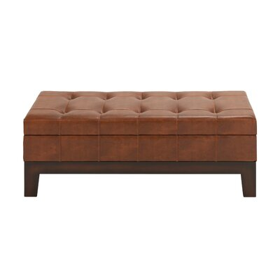 Wood Spacious Storage Bedroom Bench by Woodland Imports