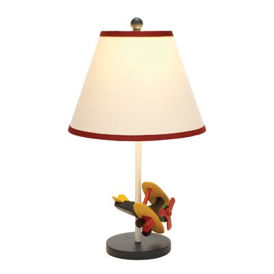 """Woodland Imports Airplane 21"""" H Table Lamp with Empire Shade"""