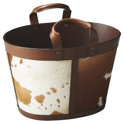 Hors D'oeuvres San Angelo Hair-On-Hide Magazine Basket by Butler