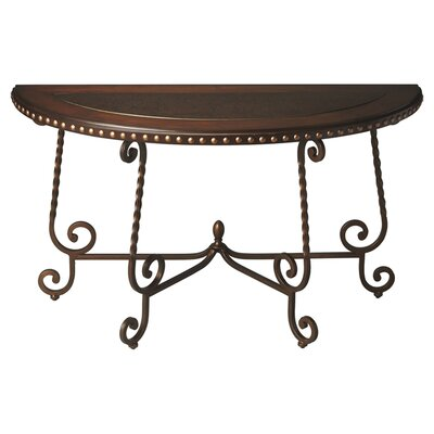 Metalworks Nottingham Demilune Console Table by Butler