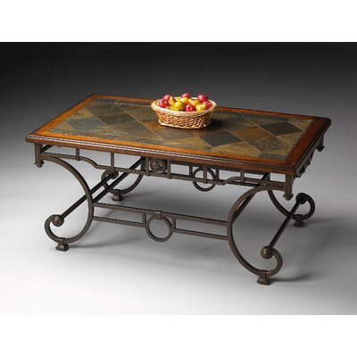 Metalworks Coffee Table with Stone Inset Top by Butler