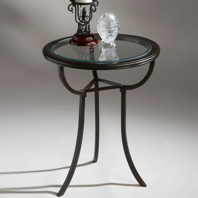 Metalworks Round End Table by Butler