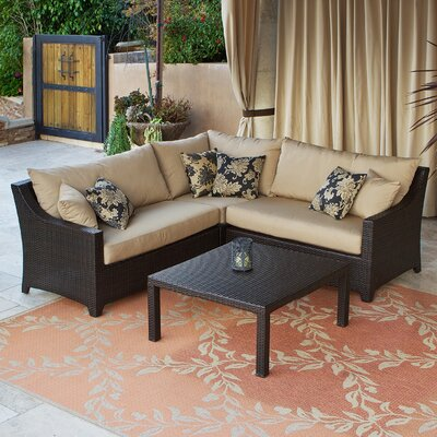 Deco 4 Piece Sectional Sofa Set by RST Brands Outdoor