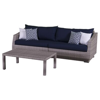 Cannes 2 Piece Deep Seating Group with Cushion by RST Brands Outdoor