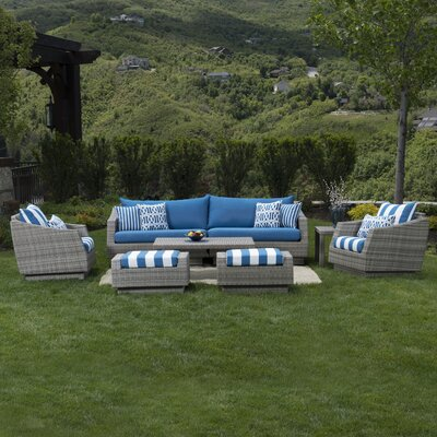 Cannes 7 Piece Deep Seating Group with Cushions by RST Brands Outdoor