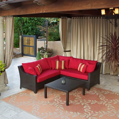 Deco 2 Piece Sectional Sofa Set with Cushions by RST Brands Outdoor