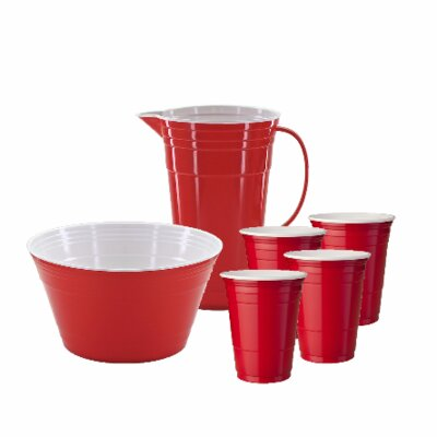 6-Piece Party Time Beverage Serving Set by Mr Ice Bucket