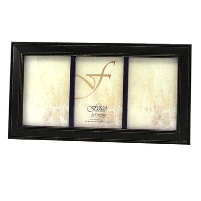 Fetco Home Decor Fashion Woods Longwood 5'' x 7'' Triple Picture Frame