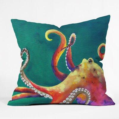 DENY Designs Clara Nilles Mardi Gras Octopus Throw Pillow