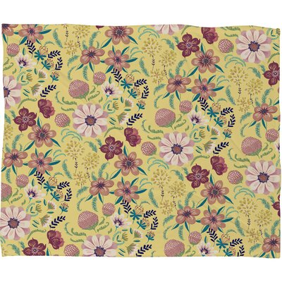 Pimlada Phuapradit Canary Floral Fleece Throw Blanket by DENY Designs