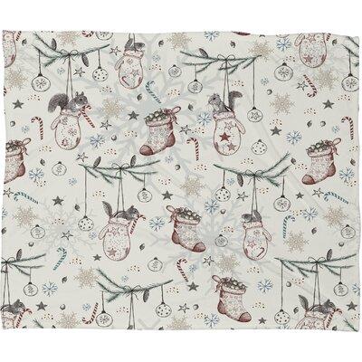 Belle 13 Squirrel Heavenly Christmas Plush Fleece Throw Blanket by DENY Designs