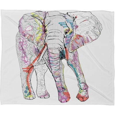 Casey Rogers Elephant 1 Throw Blanket by DENY Designs