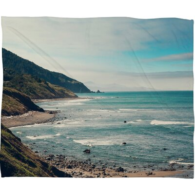 Catherine Mcdonald California Pacific Coast Highway Throw Blanket by DENY Designs