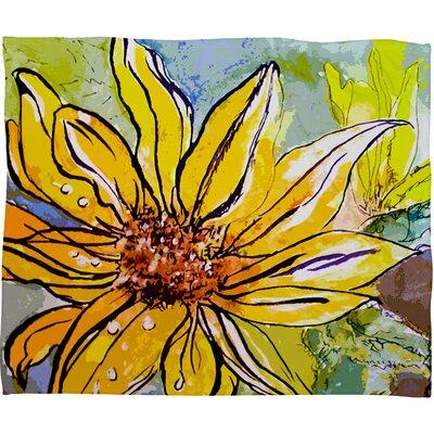 Ginette Fine Art Sunflower Ribbon Throw Blanket by DENY Designs