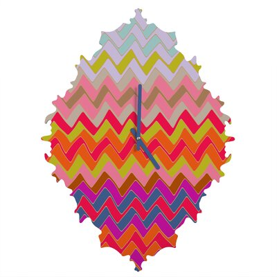 Sharon Turner Geo Chevron Wall Clock by DENY Designs
