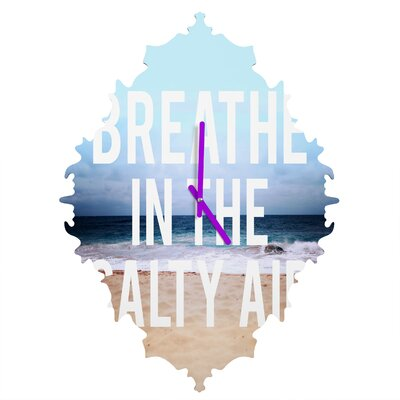Leah Flores Breathe Wall Clock by DENY Designs