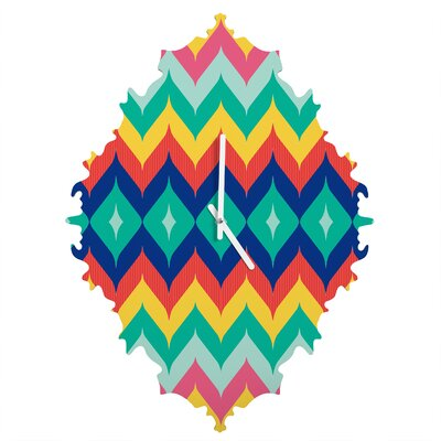 Juliana Curi Chevron Wall Clock by DENY Designs