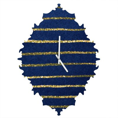 Social Proper Nautical Sparkle Wall Clock by DENY Designs