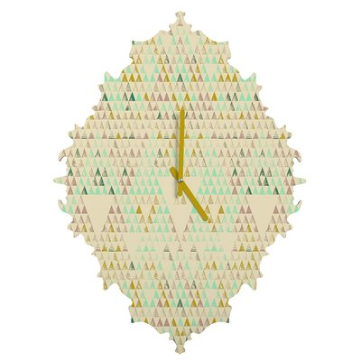 Pattern State Triangle Lake Wall Clock by DENY Designs