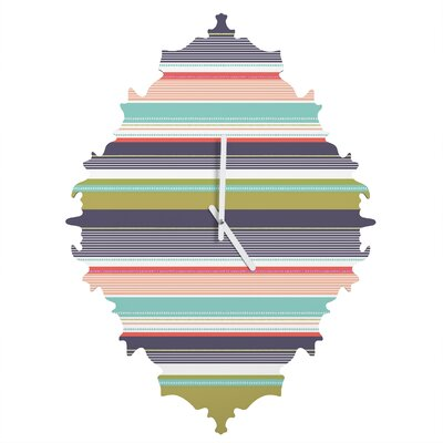 Wendy Kendall Multi Stripe Wall Clock by DENY Designs