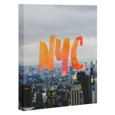 Chelsea Victoria NYC Skyline Graphic Art on Wrapped Canvas by DENY Designs