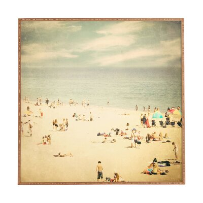 Vintage Beach by Shannon Clark Framed Wall Art by DENY Designs