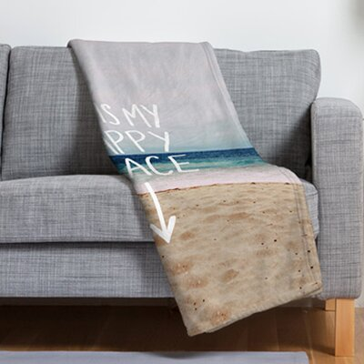 Leah Flores Happy Place X Beach Throw Blanket by DENY Designs