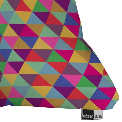 DENY Designs Bianca Green in Love with Triangles Indoor/Outdoor Throw Pillow