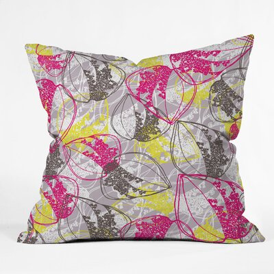 DENY Designs Rachael Taylor Retro Leaves Indoor/Outdoor Throw Pillow