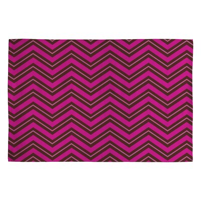 Caroline Okun Chocolate Chevron Rug by DENY Designs