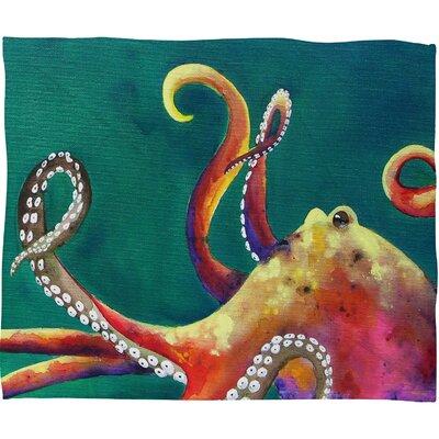 DENY Designs Clara Nilles Mardi Gras Octopus Throw Blanket