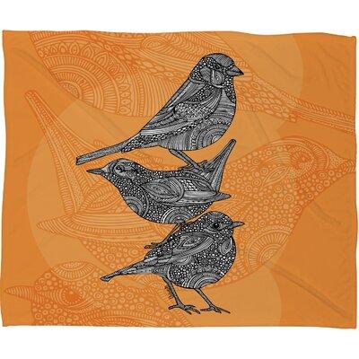 DENY Designs Valentina Ramos 3 Little Birds Throw Blanket