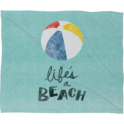 DENY Designs Nick Nelson Lifes A Beach Throw Blanket