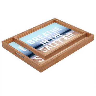 DENY Designs Leah Flores Breathe Rectangular Tray